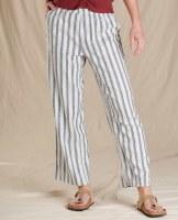 Toad & Co  Taj Hemp Pant  XL Navy Stripe