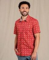 Toad & Co  Fletch Short Sleeve Shirt M Canoe Geo Print