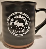 A & F Gift and Souvenir Co. New Hampshire Est. 1788 Terra Cotta Mug  Black