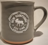 A & F Gift and Souvenir Co. New Hampshire Est. 1788 Terra Cotta Mug  Grey