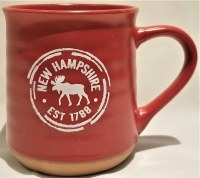A & F Gift and Souvenir Co. New Hampshire Est. 1788 Terra Cotta Mug  Red