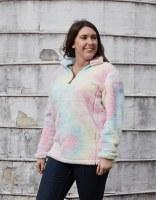 MD-Brand Tie Dye Fleece S Pink Tie Dye