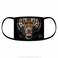 Liquid Blue Tiger Face Covering One Size