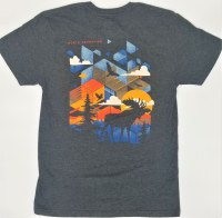 Duck Co. Transcendental Moose North Conway, NH S/S Tee S Heather Charcoal