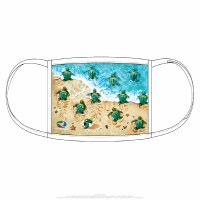 Liquid Blue Turtle Beach Face Covering One Size