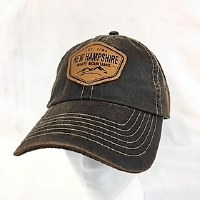 Royal Resortwear New Hampshire Leather Patch Ball Cap One Size Brown