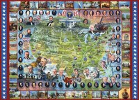White Mountain Puzzles United States Presidents Puzzle 1000 Piece
