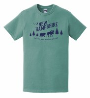 Woods & Sea New Hampshire Not All Who Wander Are Lost S/S Tee S Seafoam