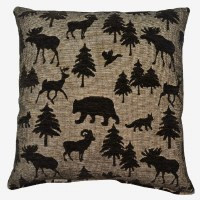 Creative Home Furnishings Wayland Pillow 17x17 Black