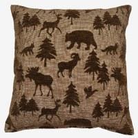 Creative Home Furnishings Wayland Pillow 17x17 Chocolate