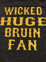FBG Wicked Huge Bruins Fan S/S Tee Small Black Heather