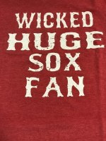 FBG Wicked Huge Sox Fan S/S Tee Small Heather Red