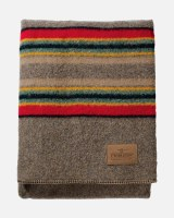 "Pendleton Yakima Camp Wool Queen Blanket 90""x90"" Mineral Umber"