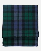 "Pendleton Eco-Wise Washable Wool Plaid/Stripe Twin Blanket 66""x96"" Black Watch"