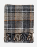 Pendleton Eco-Wise Wool Fringed Throw Throw Smoke