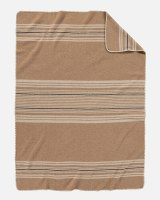 Pendleton Irving Stripe Wool Throw Throw Irving Stripe Camel