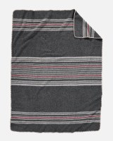 Pendleton Irving Stripe Wool Throw Throw Irving Stripe Charcoal