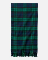 "Pendleton 5th Avenue Plaid Merino Throw 54""x72"" Black Watch"