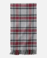 "Pendleton 5th Avenue Plaid Merino Throw 54""x72"" Grey Stewart"