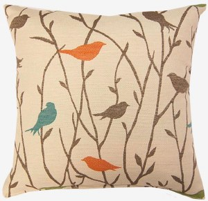 Creative Home Furnishings Twitter Pillow 17x17 Calypso