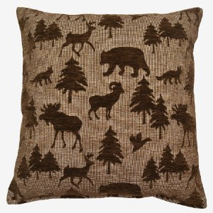 Creative Home Furnishings Wayland Pillow 17x17 Chocolate