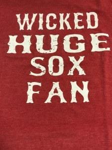 FBG Wicked Huge Sox Fan S/S Tee Small Heather Red