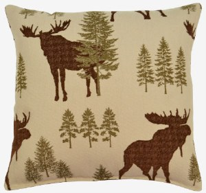 Creative Home Furnishings Woodland Pillow 17x17 Forest