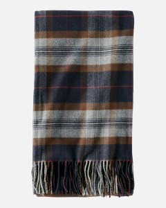 "Pendleton 5th Avenue Plaid Merino Throw 54""x72"" Ecliptic Plaid"