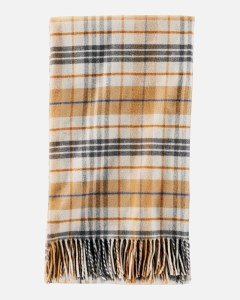 "Pendleton 5th Avenue Plaid Merino Throw 54""x72"" Goldendale Plaid"
