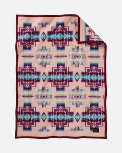Pendleton Chief Joseph Crib Blanket Baby Blanket Pink