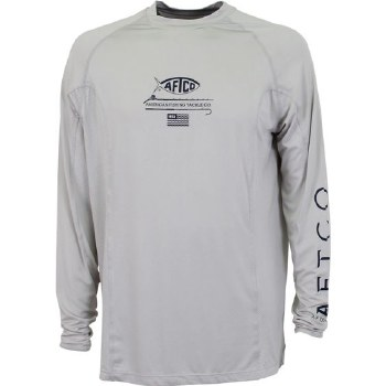 Aftco Barracuda Geo Cool Long Sleeve Performance Tee