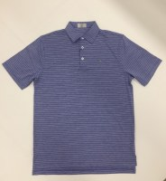 Fins & Feathers Men's Melange Pin Stripe Polo