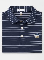 Peter Millar Georgia Southern Trophy Stripe Stretch Performance Polo