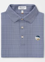 Georgia Southern Eagle Greek Gingham Performance Polo
