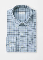 Peter Millar Crown Finish Stretch Anderson Micro-Tattersall Sportshirt