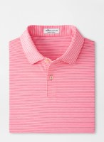 Peter Millar Featherweight Melange Stripe Performance Polo