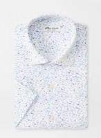 Peter Millar Flock Together Performance Short-Sleeve Sport Shirt