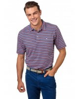 Southern Tide Heathered Channel Marker Stripe Polo