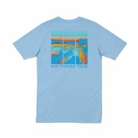 Southern Tide On The Water Tee Blue