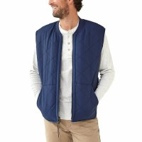 The Normal Brand Lincoln Sherpa Lined Vest- Navy