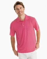 Southern Tide Brrr Driver Stripe Performance Polo