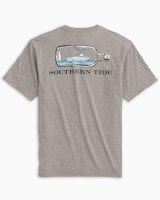 Southern Tide Boat in a Bottle Heathered T-Shirt