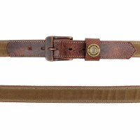 The Field Tan Waxed Canvas Belt