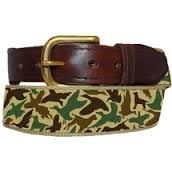 Over Under Old School Camo Ribbon Belt