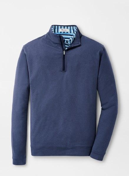 Peter Millar Needle-Stripe Quarter-Zip Sweater