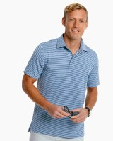 Southern Tide Driver Heather Micro Striped Performance Polo Shirt