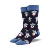Sock Smith Snazzy Schnauzer Crew Socks
