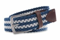 Southern Tide Braided Elastic Belt Dutch Blue
