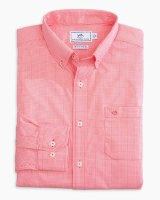 Southern Tide Micro Gingham Intercoastal Performace Sport Shirt