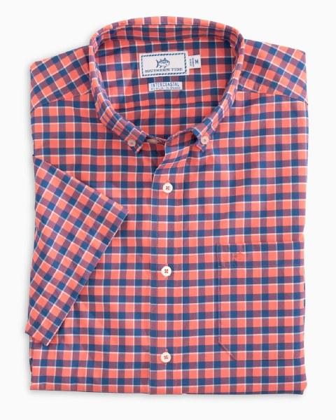 Southern Tide Gunwale Check Intercoastal Short Sleeve Sport Shirt